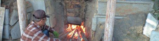Making Bamboo coal in Oita Japan
