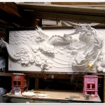 Japanese Plaster Cloud Dragon
